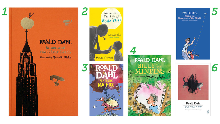 Selection of Roald Dahl books available to buy
