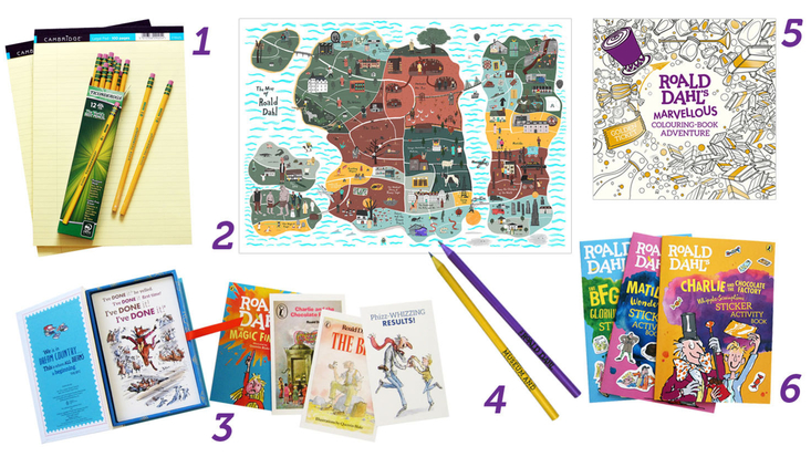 A gift selection of creative and art Roald Dahl gifts