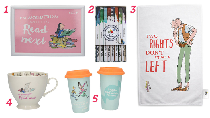 A selection of Roald Dahl gifts for foodies