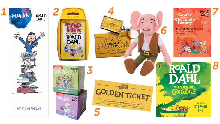 A gift guide selection of Roald Dahl stocking fillers