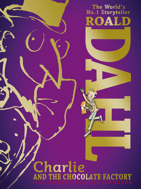 50th anniversary hardback edition of Roald Dahl's Charlie and the Chocolate Factory