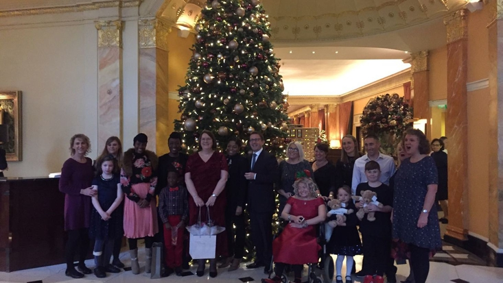 Roald Dahl Nurses, children and families at Clarence House event