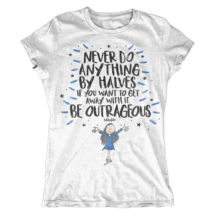 Ladies Roald Dahl Be Outrageous t-shirt