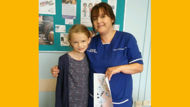 Beth and Roald Dahl Nurse Karen