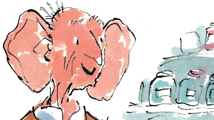 Roald Dahl's The BFG with his Dream Jars, illustrated by Sir Quentin Blake