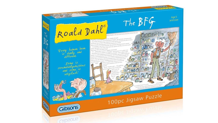 Puzzle inspired by Roald Dahl's The BFG, featuring illustrations by Sir Quentin Blake