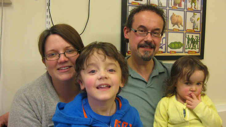 Family with 8 year old boy with neuromuscular disorder