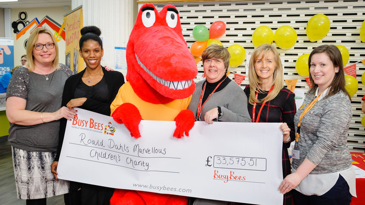 Busy Bees donation at Birmingham Children's Hospital