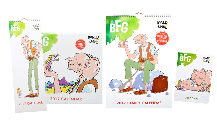 Roald Dahl BFG 2017 calendars and diaries