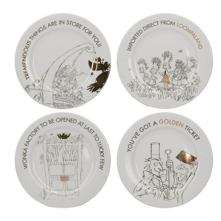 Charlie and the Chocolate Factory Side Plates