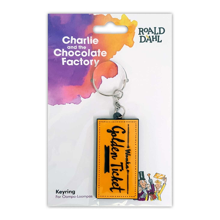 Rubber keyring based on Roald Dahl's Charlie and the Chocolate Factory