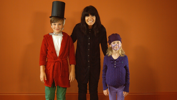 Claudia Winkleman gets ready for the Dahlicious Dress Up Day!
