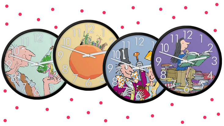 Roald Dahl character wall clocks