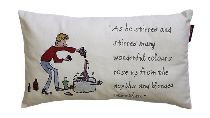 Roald Dahl's George's Marvellous Medicine cushion with quote