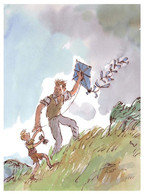 Danny the Champion of the World mini-poster featuring Quentin Blake's illustrations of Roald Dahl's characters