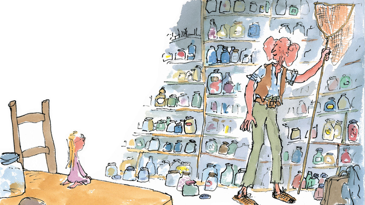 Roald Dahl's The BFG, illustrated by Quentin Blake