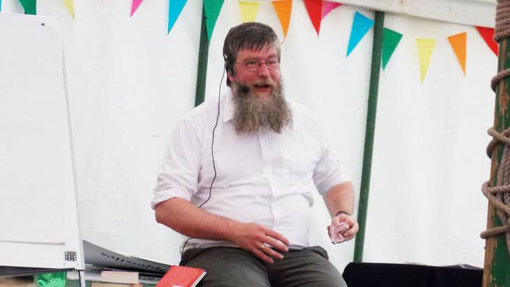 Philip Ardagh at Wychwood Music Festival