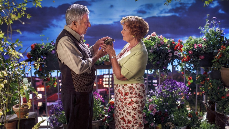 Dustin Hoffman and Judi Dench in Roald Dahl's Esio Trot, to be screened on BBC One Christmas 2014