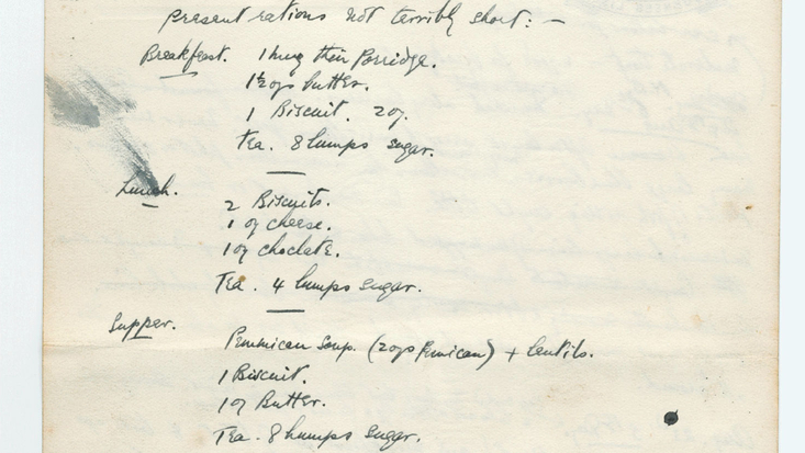 Extract from Roald Dahl's Expedition Diary 1934