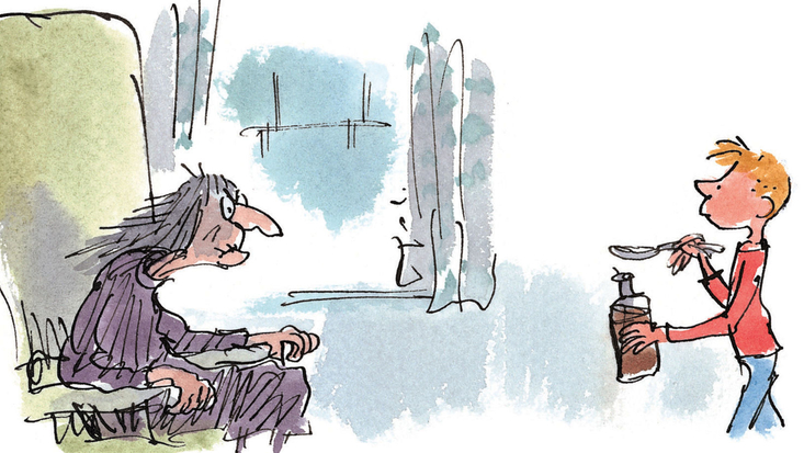 Roald Dahl's George's Marvellous Medicine, illustrated by Quentin Blake