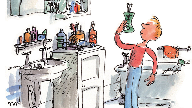 George Kranky, from Roald Dahl's George's Marvellous Medicine, illustrated by Quentin Blake