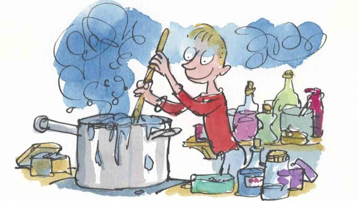 George Kranky, from Roald Dahl's George's Marvellous Medicine, illustrated by Sir Quentin Blake