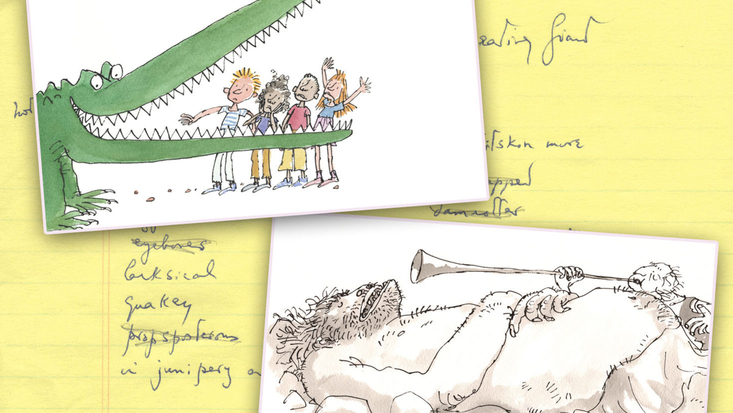 Beaddies in Roald Dahl's books and archive paper