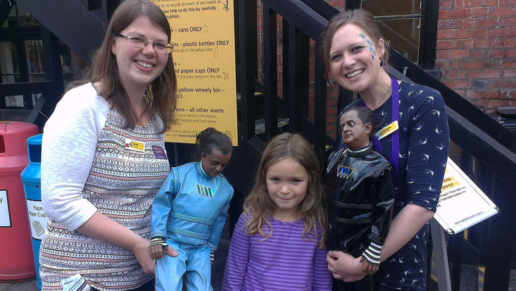 Annie with Education Manager Isy on Roald Dahl Day