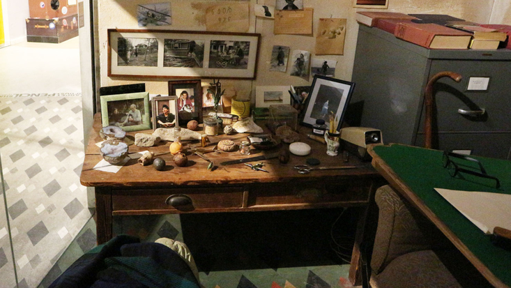 Roald Dahl's Writing Hut once all of his objects were put back in place