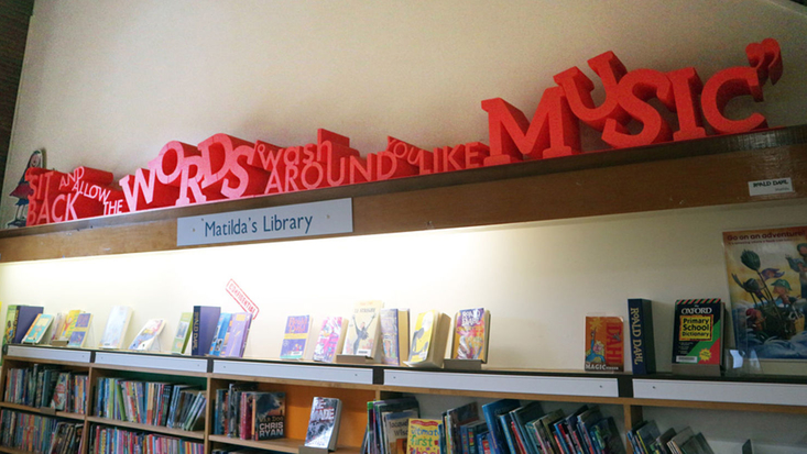 Roald Dahl quotes at Great Missenden Library