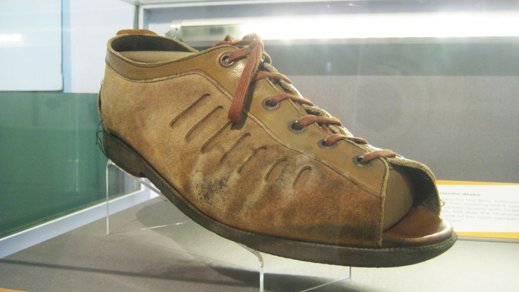 The BFG's sandal at the Roald Dahl Museum