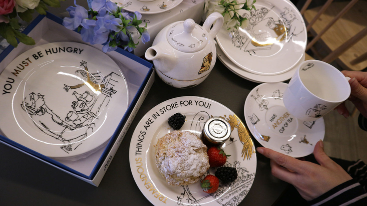 Selection of Roald Dahl crockery including fine china plate sets