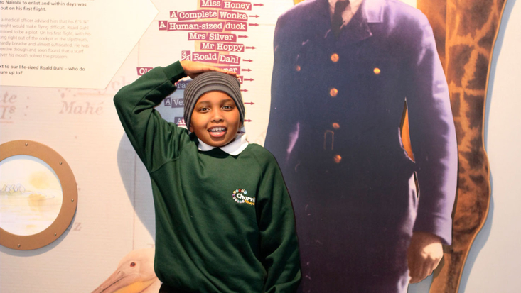 School visit to the Roald Dahl Museum