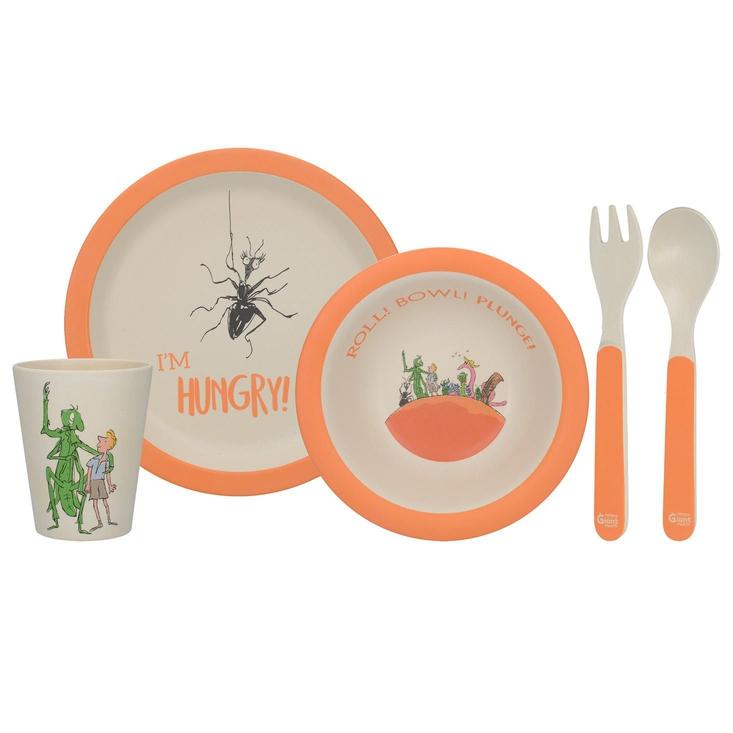 James and the Giant Peach kids bamboo dinner set