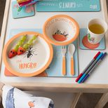 James and the Giant Peach bamboo dinner set lifestyle