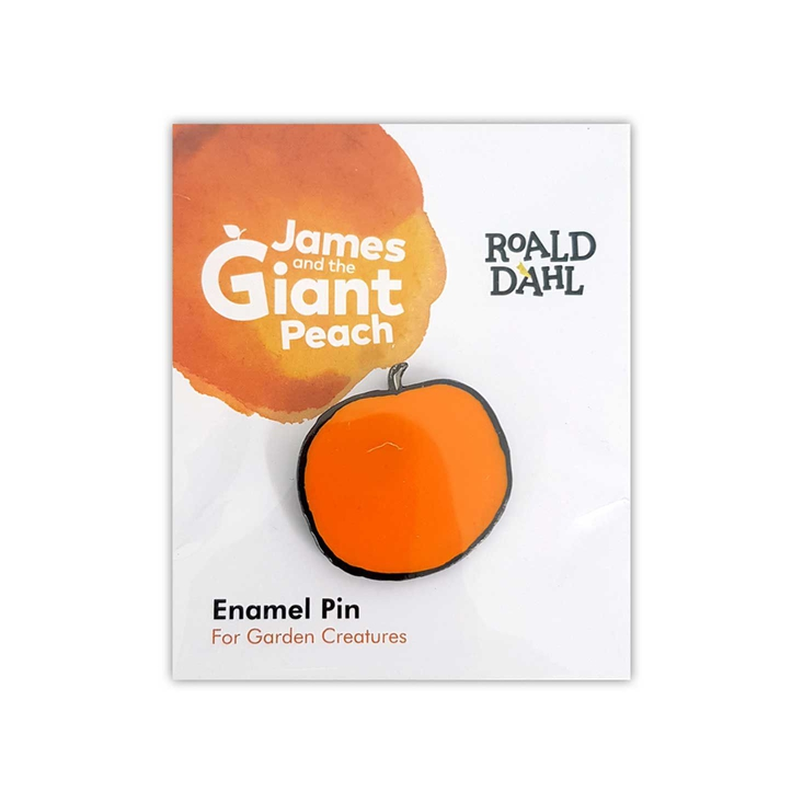 Enamel pin badge based on Roald Dahl's James and the Giant Peach