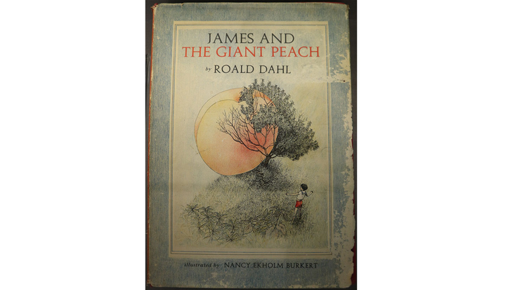 Image of first edition cover of James and the Giant Peach