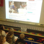 Mann Elementary School (Illinois, USA) watch the Puffin Virtually Live Roald Dahl Day webcast