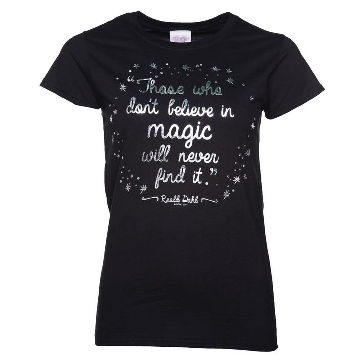 Ladies Believe In Magic t-shirt based on Roald Dahl's The Minpins