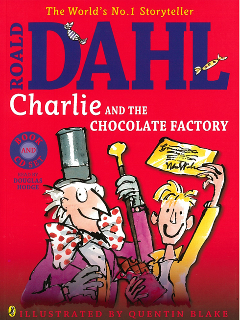 Roald Dahl's Charlie and the Chocolate Factory large paperback and CD