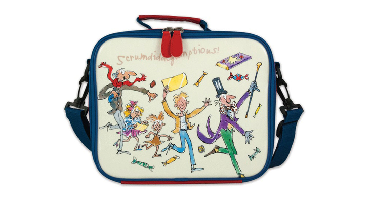 Roald Dahl's Charlie and the Chocolate Factory lunch bag, illustrated by Quentin Blake