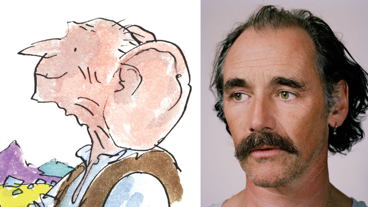 Mark Rylance to play Roald Dahl's The BFG, here illustrated by Sir Quentin Blake, in Steven Spielberg's forthcoming film adaptation
