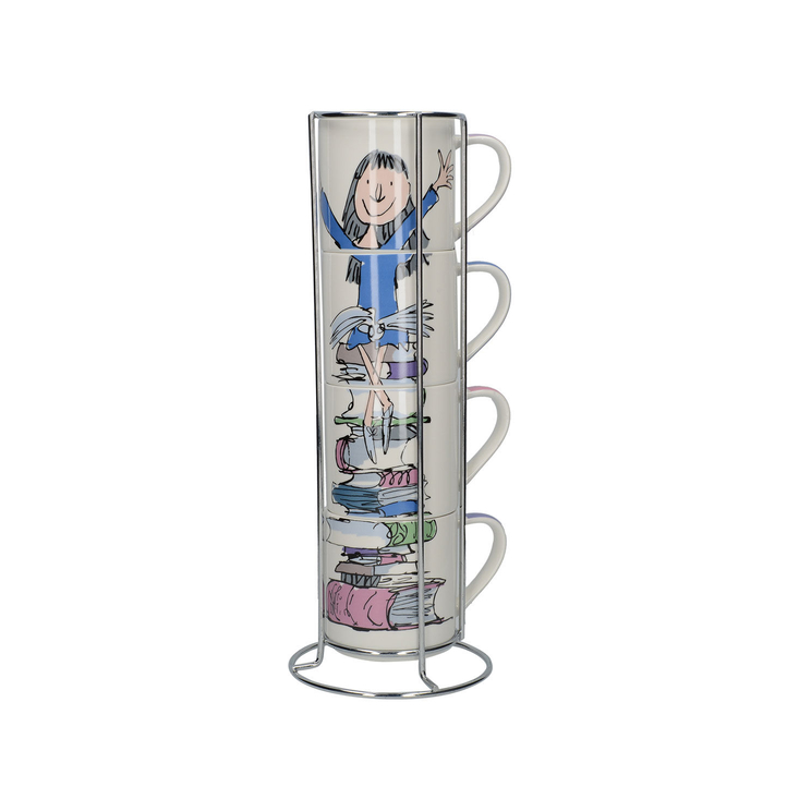Roald Dahl's Matilda stacking mug set