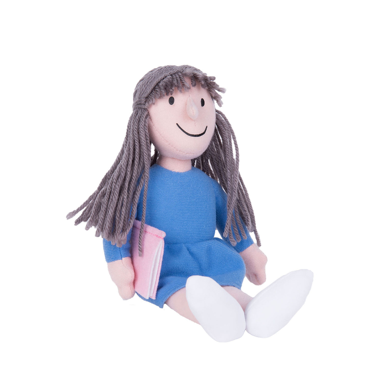 Soft toy plush Matilda from Roald Dahl and Quentin Blake