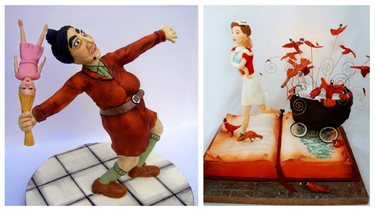 Cakes inspired by Roald Dahl's Matilda and Danny, the Champion of the World