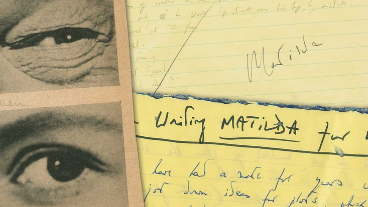 Matilda Roald Dahl archive items