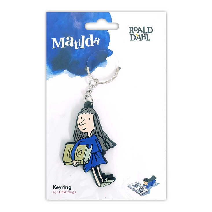 Rubber keyring based on Roald Dahl's Matilda