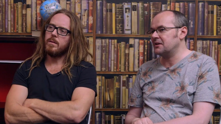 Tim Minchin and Dennis Kelly, writers of Matilda The Musical