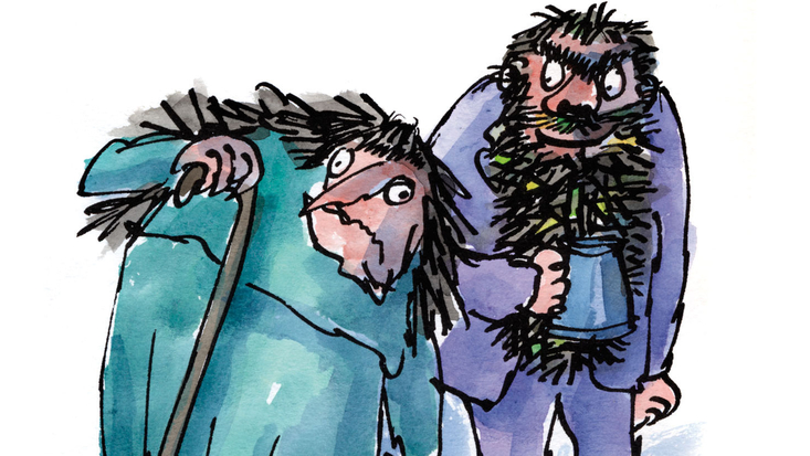 Mr and Mrs Twit from Roald Dahl's The Twits, illustrated by Sir Quentin Blake