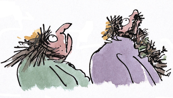 Mrs and Mrs Twit from Roald Dahl's The Twits, illustrated by Quentin Blake